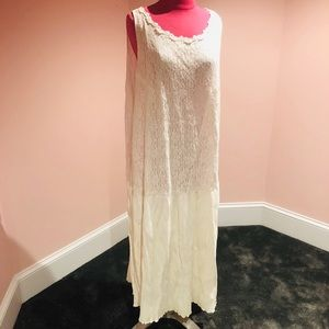 Vintage cream lace dress